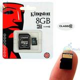 Memoria Microsd Kingston 8gb Clase 10 Uhs-i 30mb/seg Origina