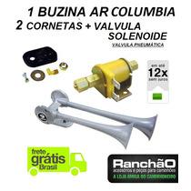 Buzina Ar Caminhão 2 Cornetas Columbia + Valvula Solenoide