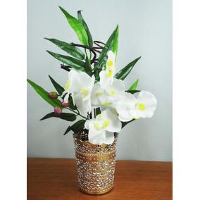P Arranjo De Orquideas Artificial Vasos Flores Artificiais