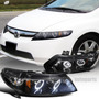 Faros Lupa + Doble Ojo De Angel Honda Civic Sedan 2006-2011