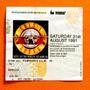 Guns N Roses Boleto De Coleccion 1991 Judas Maiden Metallica
