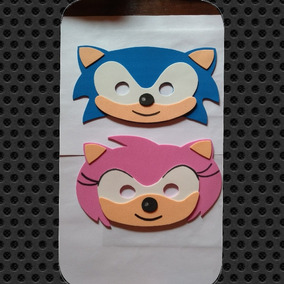Antifaz De Sonic En Goma Eva