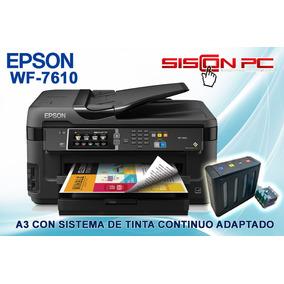 Impresora Epson Wf 7610 A3 Tinta Sublimación O Pigmentada