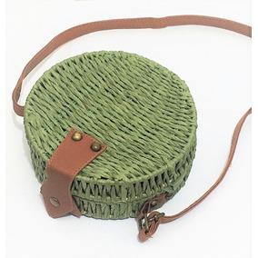 Bolsa Redonda Circol Bag De Palha Importada Várias Cores