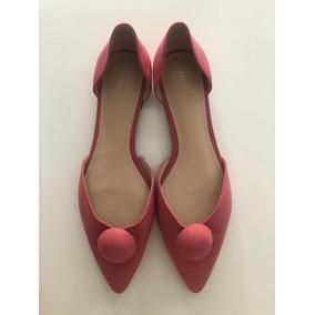 Zapatos Chatitas Balerinas De Mujer Rosa Mango Verano 18