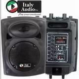 Parlante Caja Amplificada 8 Recargable Italy Audio + Mic