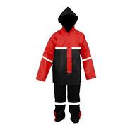 Impermeable Rojo Para Motociclista C/reflejantes Impermexa