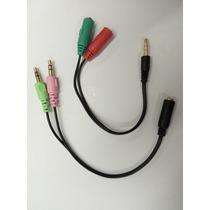 P3 Macho Para 2 P2 (fone/microfone) Femea + Peça Contrario