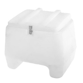 Baú Plástico 120 Litros Para Moto Motoboy Branco
