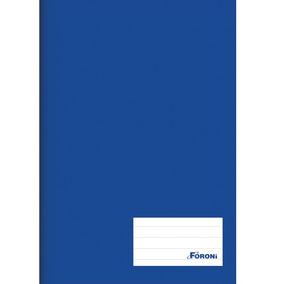 Caderno Brochura 96 Folhas 1/4 (14cmx20cm) Azul Foroni - 35.