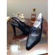Zapatos Cuero Negro N° 36 Via Uno.