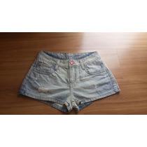 Shorts Jeans Claro Marca Planet Girls Curto Verão Tamanho 34