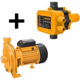Kit Electrobombazo Ingco Bomba 1hp Centrifuga+ Press Control