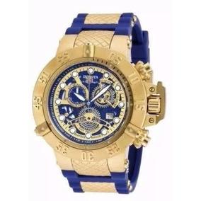 Relógio Invicta Subaqua 18527 Dourado Original Com Cx W42