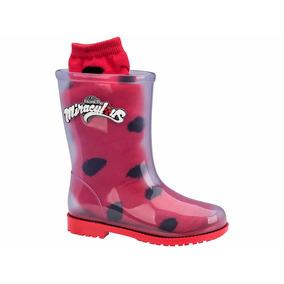 Bota Galocha Feminina Vermelha Ladybug Grendene Kids