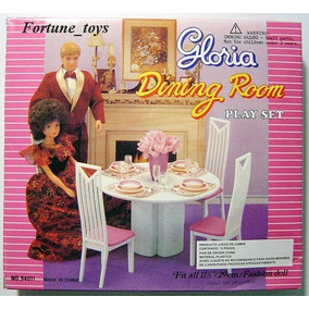 Mueble Para Casa De Muñeca Barbie Comedor Chico Envio Gratis