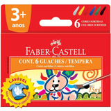 Tinta Guache Lavável 6 Cores 15ml - Faber Castel
