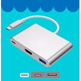 Adaptador Usb 3.1 Tipo C A - Usb 3, Hdmi Y Carga - Macbook