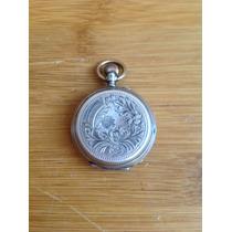 Antiguo Reloj De Bolsillo De Plata, Ancre, Siglo Xix