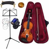 Violino Concert 3/4 1/2 Kit + Partitura + Cordas + Afinador