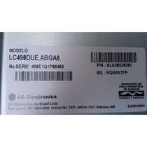 Tela Display Lg 49 Polegadas Lc490due-fgp2 A Retirar