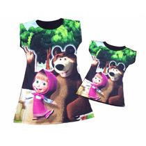 Vestido Mãe E Filha Masha E O Urso
