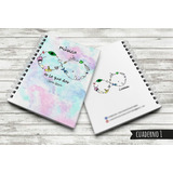 Cuadernos Rayados Tapa Dura 80 Hojas Tamaño A5 21x15 Cm