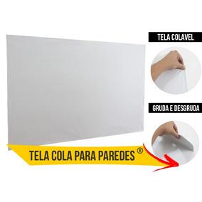 Tela Telão Projetor Projeção Cola Gruda 100 Pol Dobrável