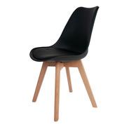 Cadeira Saarinen Leda Base Wood - Artiluminacao