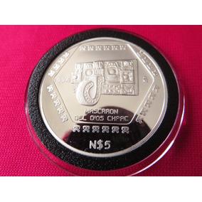 Moneda Onza Mascaron Del Dios Chaac Maya 1994