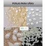 100 Medias Perlas Ojo Caballo 3 X 5 Mm Blancas Perlada