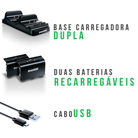 Carregador Dual Controle Xbox One Dreamgear Queima Estoque
