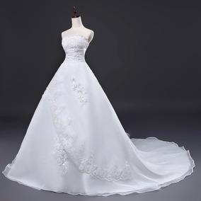 Vestido De Noiva Longo Tomara Que Caia Cesa Princesa