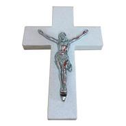 Cruz De Marmol Con Cristo Para Cementerio, 38x27cm.