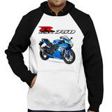 Moletom Moto Suzuki Gsx R 750 Srad Moto Gp Raglan