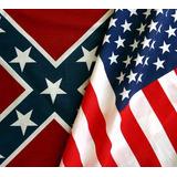 Usa + Confederada / 2 Hermosas Banderas En Oferta Argenflag
