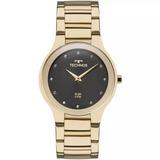 Relógio Technos Feminino Slim Dourado 1l22wi/4p Original Nfe