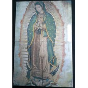 Virgen De Guadalupe Imagen En Azulejos 60cm X 40cm C3455