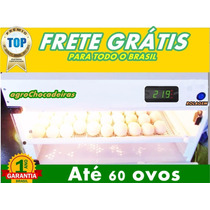 Chocadeira 60 Ovos + Ovoscópio Brinde Automatica Digital Pro