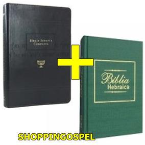 Kit Biblia Judaica Completa + Biblia Hebraica Em Portugues