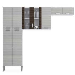 cozinha Modulada 3 Peças Alfa - Branco Rovere - Kits Paraná