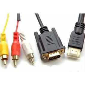 Remate Cable 1.5m Hdmi A Vga Y Rca Macho Sin Garantía