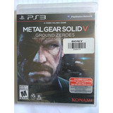 Juego Ps3 Metal Gear Solid Ground Zeroes