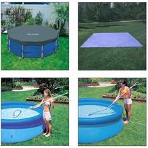 Capa 3,05 E + Forro + Kit De Limpeza P/ Piscina Intex 4485 L