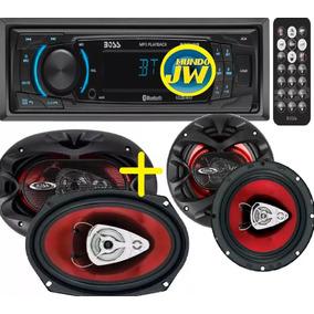 Stereo Boss 460 Sd Usb Bluetooth + Boss 6930 6x9 + 6 6530 6´