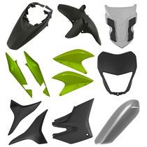 Kit Plástico Carenagem Cb 300r 2012 - 9 Peças Verde Metálico