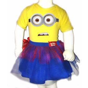 Disfraz Halloween Para Bebes Pañalero +tutu- Minion