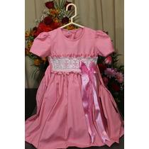 Vestido Fiesta Rosa Niña 4-5 Años