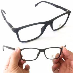 Armação Masculina Fibra De Carbono E Metal Óculos Grau Lk042