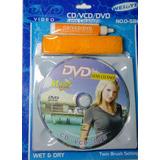 Kit Disco Limpiador Cd / Dvd + Cepillo + Liquido
